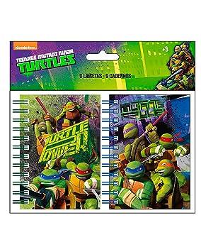 Tortugas Ninja, Libretas A7 Ninja Turtles, Pack of 2: Amazon ...
