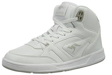 KangaROOS Unisex Adults' Advantage Hi Hi Top Slippers white Size: 3
