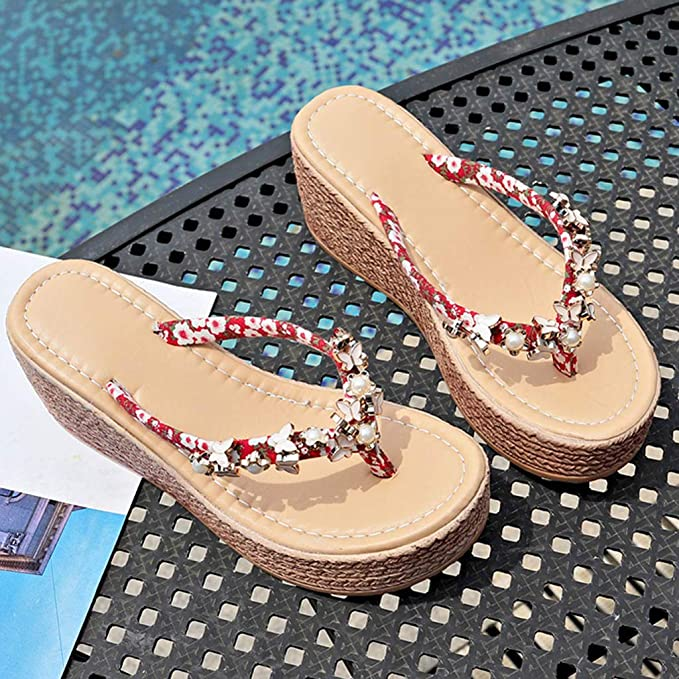Lace Flat sandals Ladies Summer Beach slippers Casual Womens Shoes UK 0-12