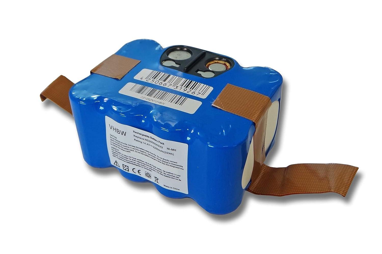 vhbw Batería 2200mAh azul apta para robot aspirador Klarstein MyGenie XR210 Nestor Ziclean Furtiv Indream 9200 9300 Trisa Robo Clean NS3000D03X3.