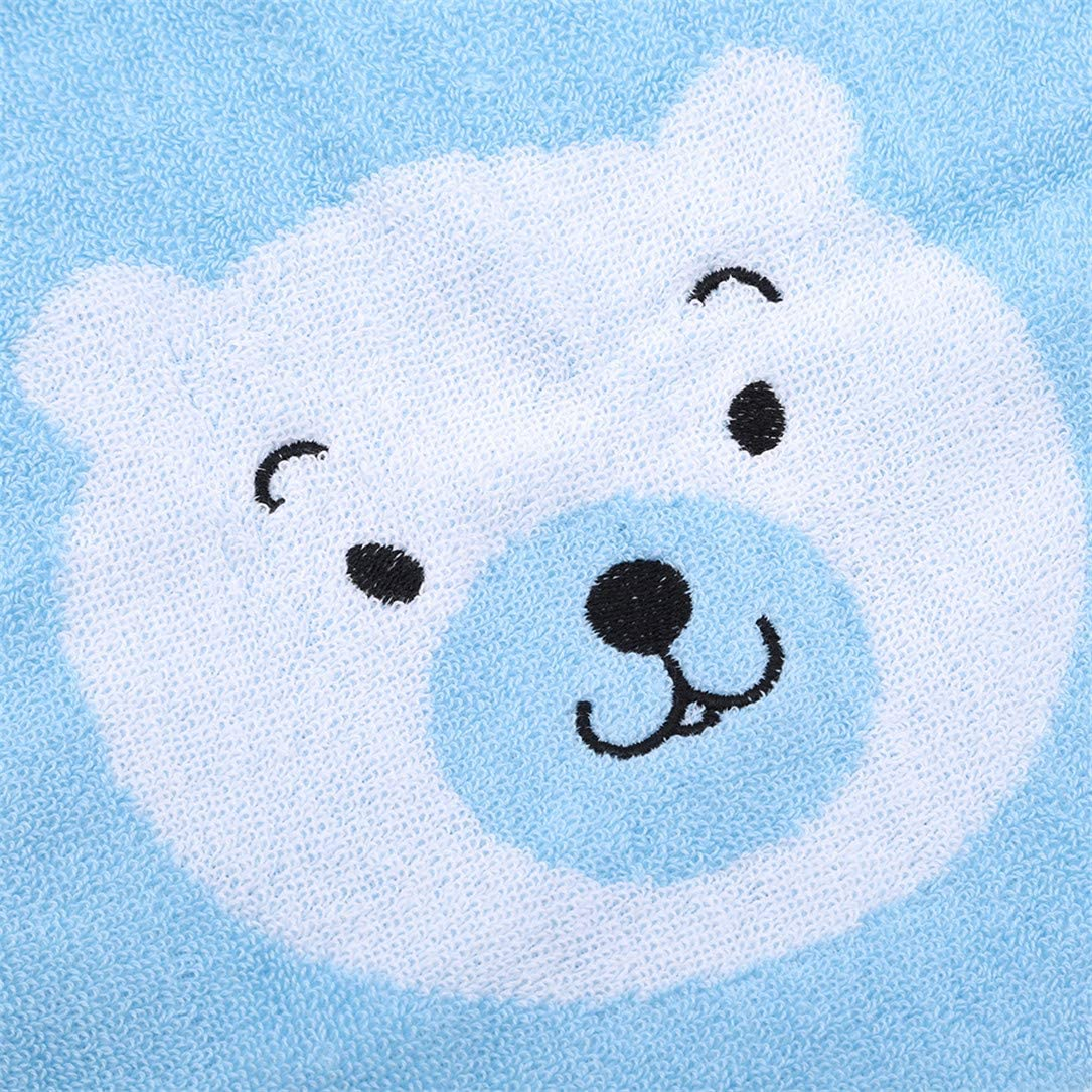 lehao Kids Towel Cute Bear Washcloth Extra Soft /& Absorbent Towels Genuine for Keeps Baby Dry Warm,Blue