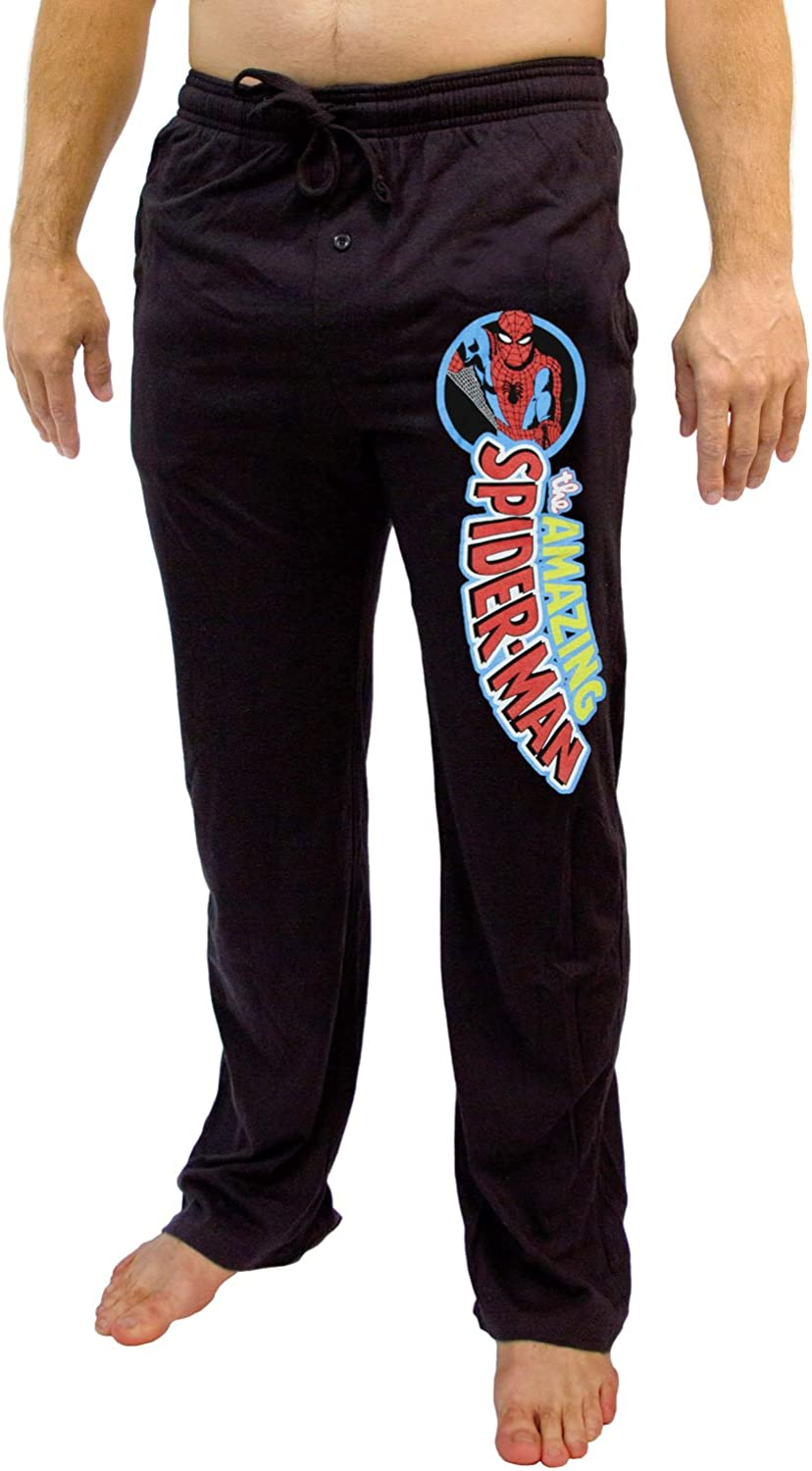 Marvel Amazing Spider-Man Classic Character Logo Adult Lounge Pants