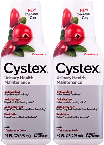 Cystex Liquid Cranberry Complex Supplement – 7.6 oz. 2 Pack