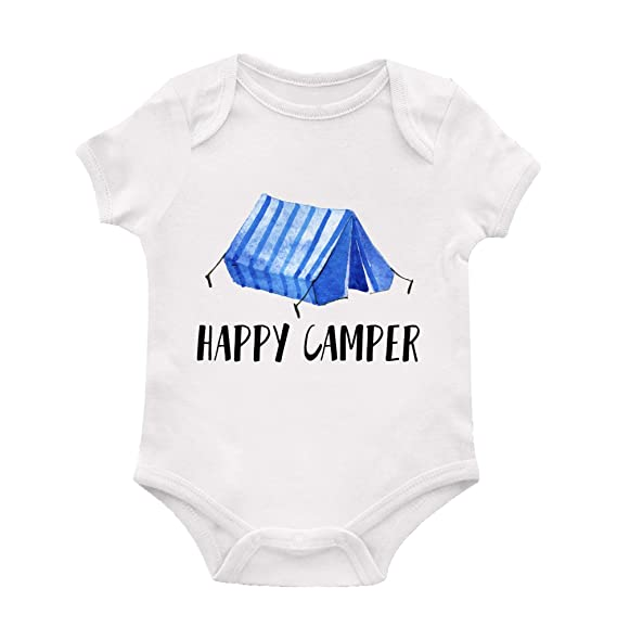 Amazon.com: Happy Camper Baby Boy Bodysuit, Camping Baby ...