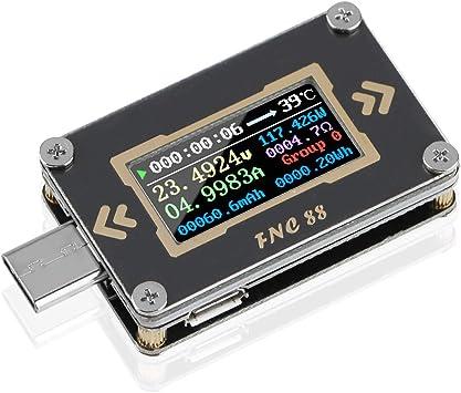 Usb Tester Multimeter Type C Usb C Voltage Current Tester Meter Voltmeter Ammeter Digital 2 Way Pd Trigger Quick Charge Qc2 0 Qc3 0 0 24v 5a Fnc88 Baumarkt