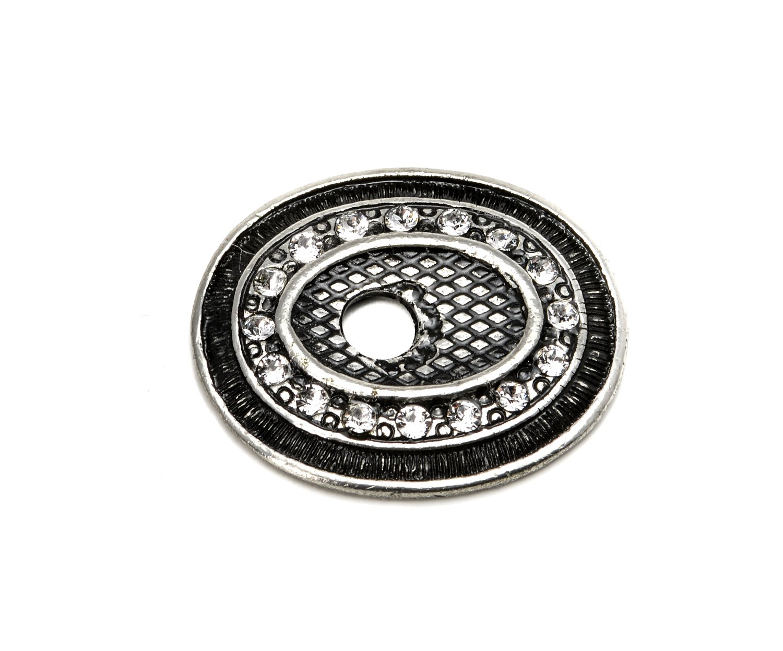 Carpe Diem Hardware 6145-9C  Crowning Glory  Queen Anne Oval Escutcheon Made with Swarovski Crystals, Chalice