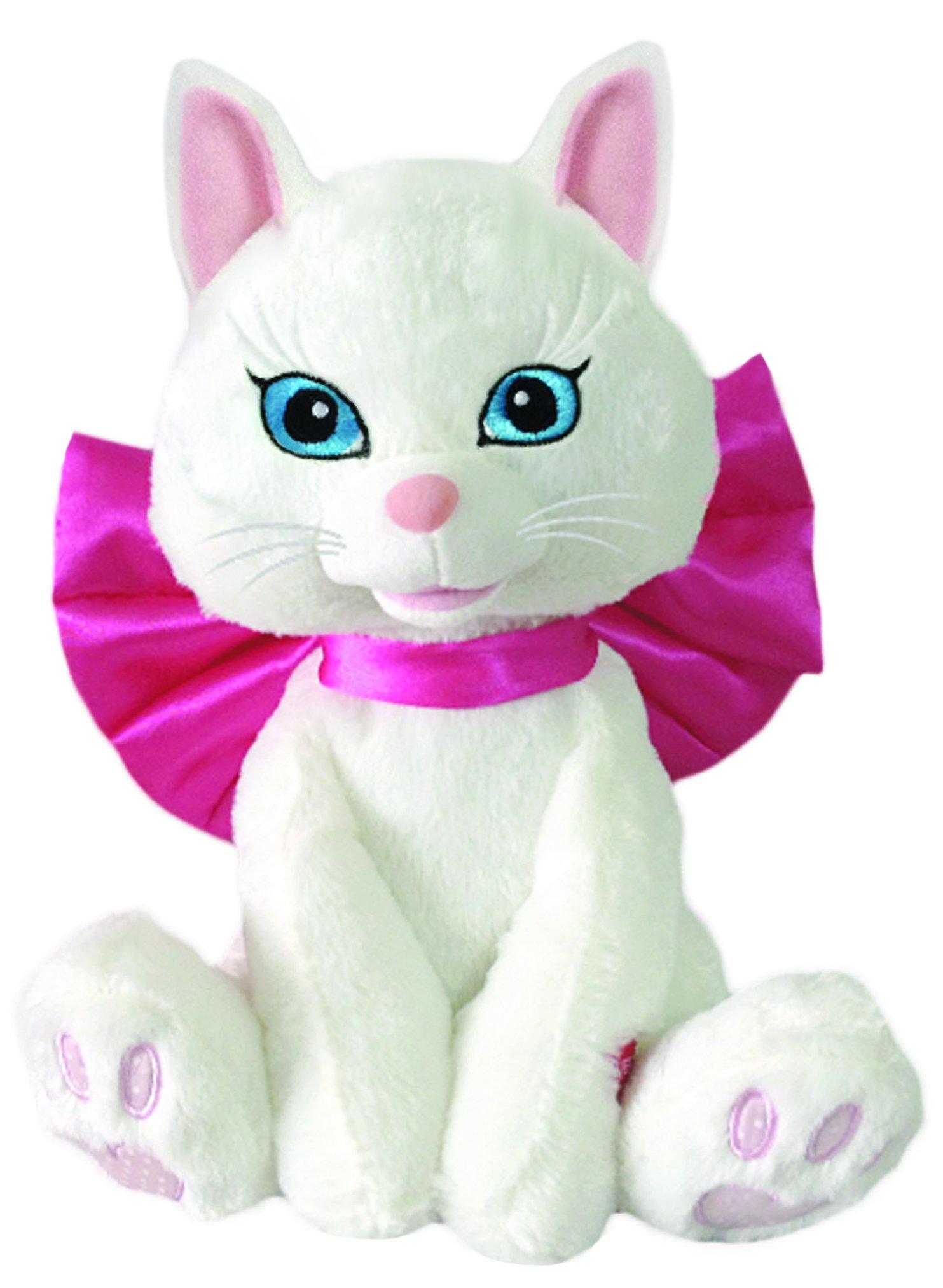 Chantilly Lane ''Smitten Kitten White Kitten with Big Bow Sings L.O.V.E. Plush, 12'' by Chantilly Lane