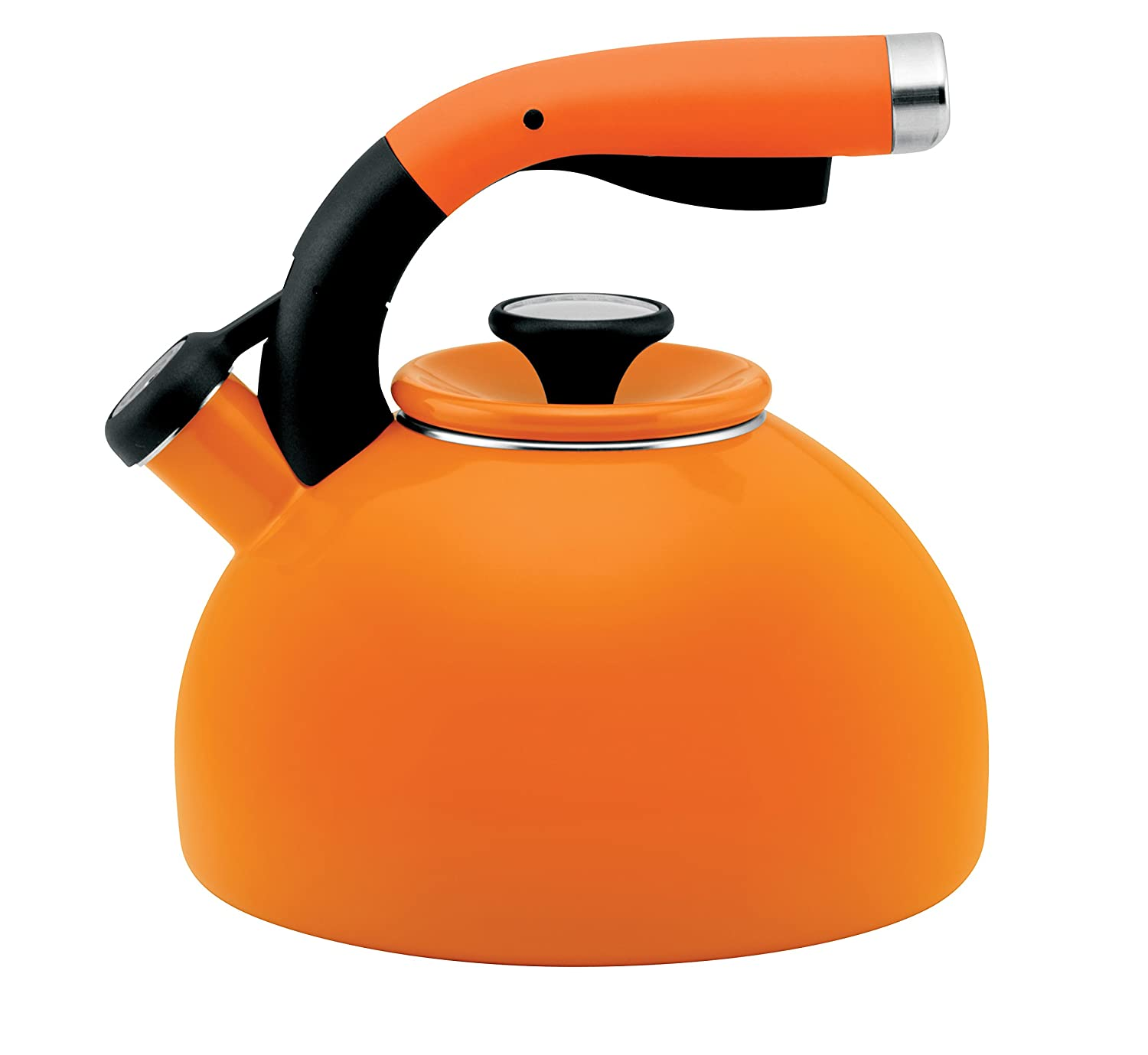 amazoncom circulon quart morning bird teakettle mandarin  - amazoncom circulon quart morning bird teakettle mandarin orangeteakettles kitchen  dining