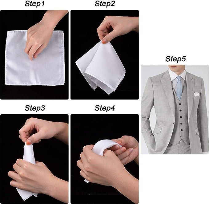 Amazon.com: 10 pañuelos cuadrados de bolsillo, para hombres ...