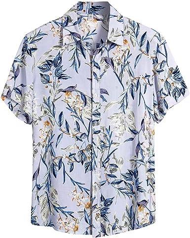 Sylar Camisa Hawaiana Hombre Manga Corta Verano Blusas Estampado de Flores Hombres Casual Camisas de Playa T-Shirt Camisetas Slim fit M-XXXL: Amazon.es: Ropa y accesorios