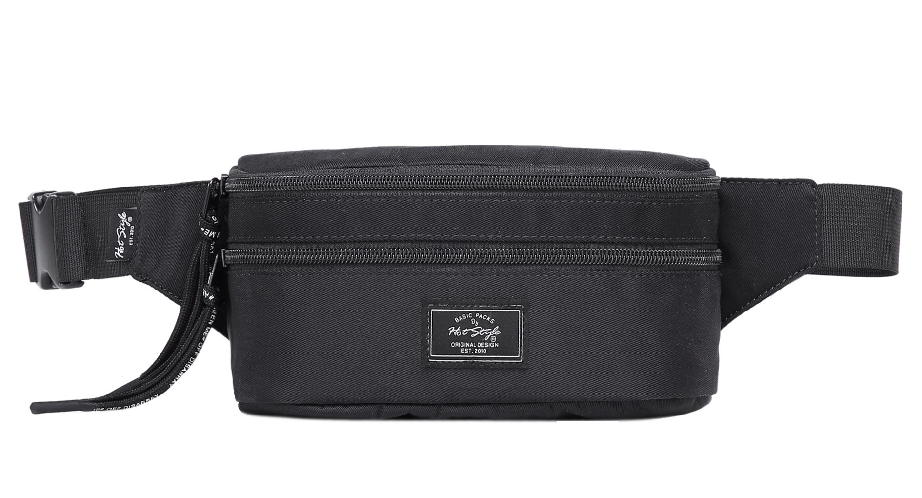 521s Fashion Waist Bag Cute Fanny Pack | 8.0''x2.5''x4.3'' | Black