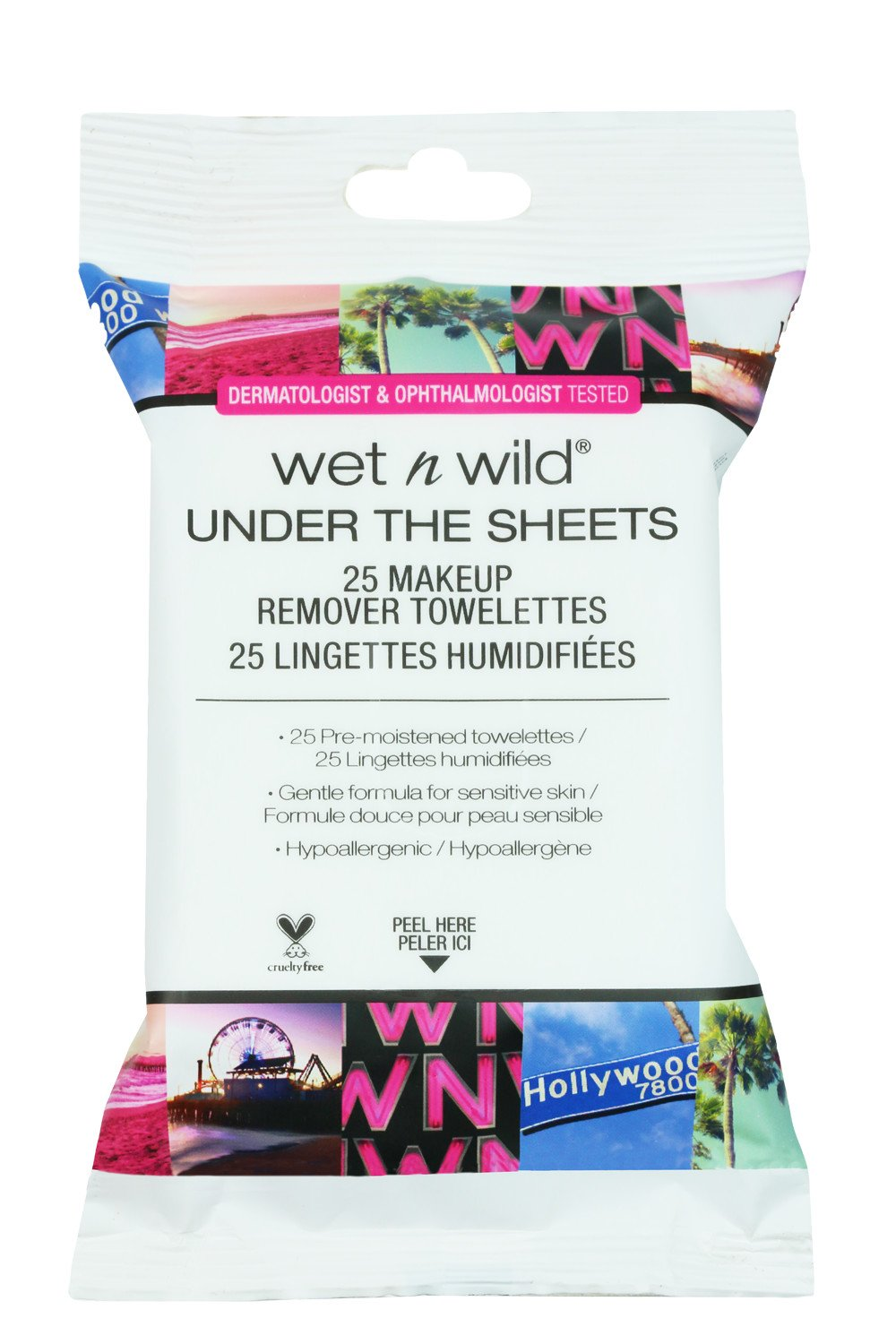 Wet n Wild 980A Makeup remover towelettes, 0.30 Pounds, Under The Sheets Markwins Beauty Products