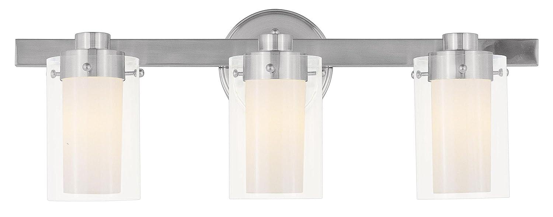 Livex Lighting Manhattan Light Bath Light Brushed Nickel - 4 light bathroom fixture brushed nickel