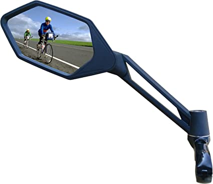 Handlebar Mirrors With Safety Reflectors Bicycle Bike Mobility Scooter Durable