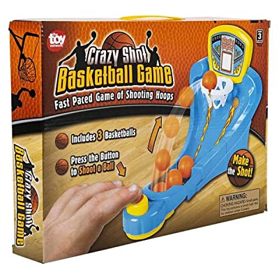 "Zugar Land Crazy Shot Basketball Game (11"" X 8"") Fast Paced Game of Shooting Hoops. Includes 3 Basketballs.: Toys & Games"