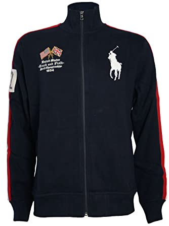 RALPH LAUREN Hombre Diseñador Polo Chaqueta - USA BIG PONY -XXL ...