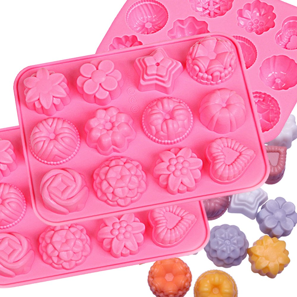 IHUIXINHE Silicone Mold, Ice Cube Mold, Chocolate Mold, Candy Mold, Cupcake Baking mold, Muffin pan (Chocolate)