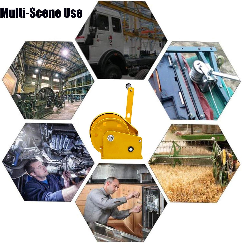 Análisis Cabestrante Manual con Alambre Acero Autobloqueo Bidireccional Acero Inoxidable para Camiones Barcos WishY