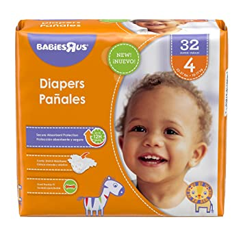 Babies R Us Size 4 Jumbo Pack Diapers - 32 Count
