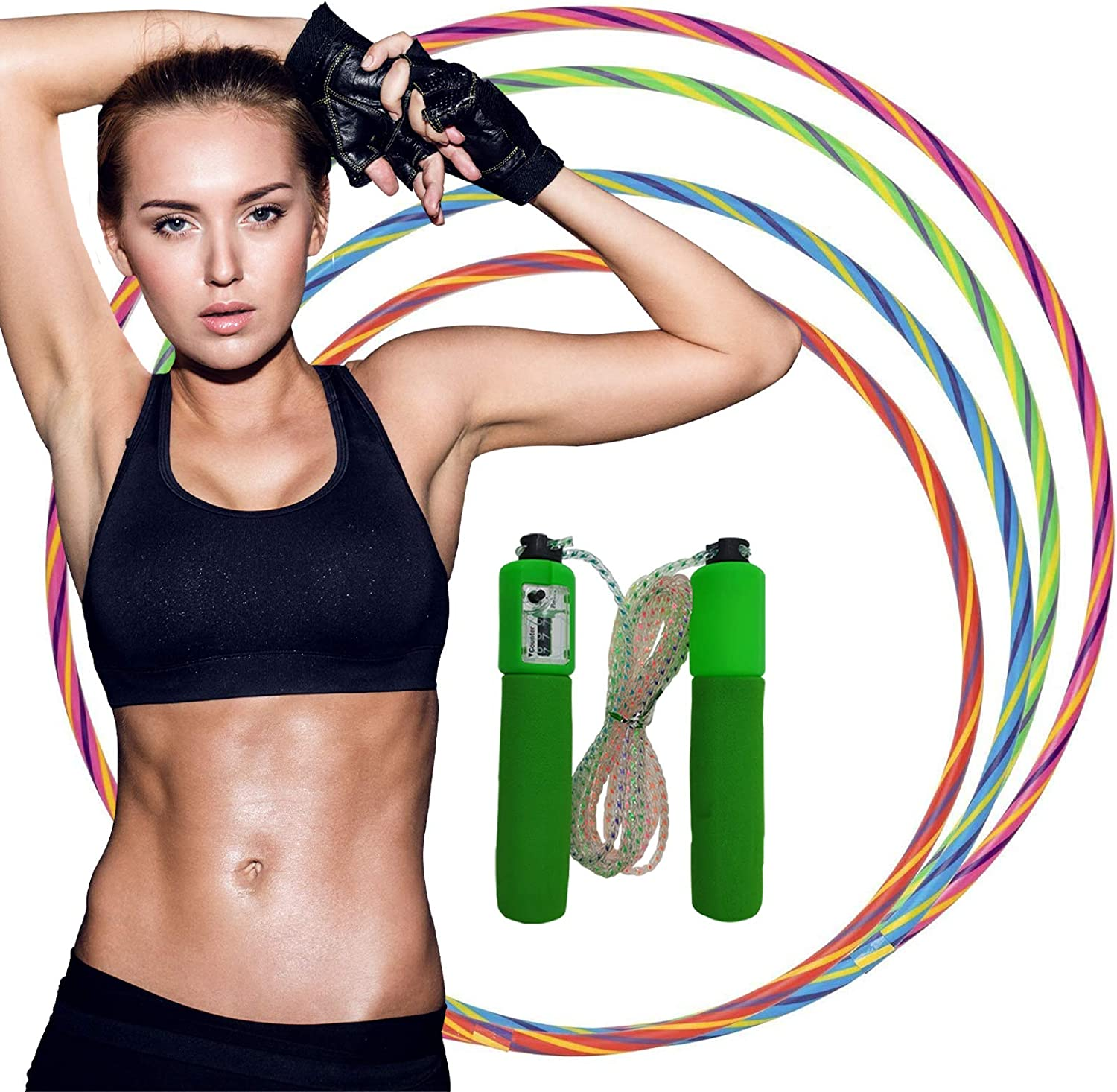 Medium /& Large With Free Skipping Rope Digital Sports Dance Rings in Small Multicolour Sporting Good Hula Hoops for Kids /& Adults Fitness Activity Hula Hoops GAX Sports Hot Shot Hula Hoops 3x