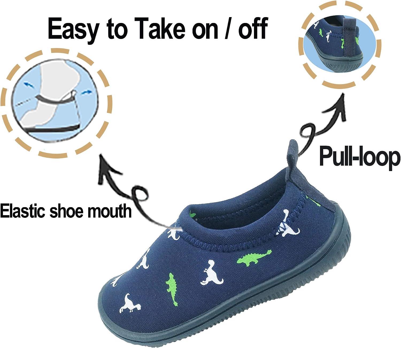 Dream Bridge Kids Beach Shoes Water Shoes Boys Girls Anti-Slip Swim Shoes Breachable Barefoot Aqua Skin Shoes for Children Pool Seaside Sport