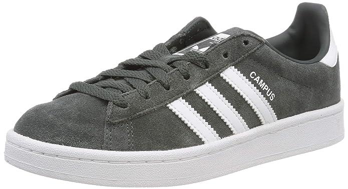 Graue adidas Campus Sneaker mit weißen Streifen Unisex Kinder