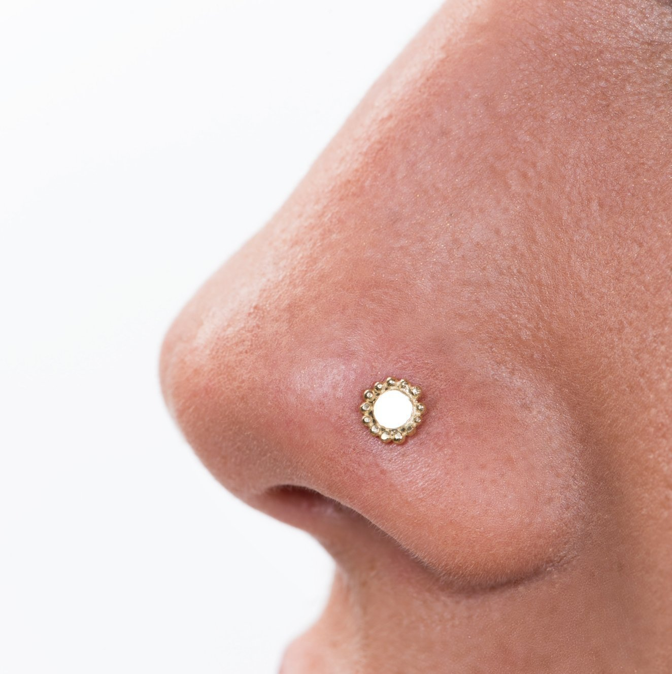 Amazon Com Sun Nose Stud Nose Piercing Gold Nose Stud Nostril
