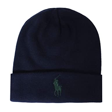 2eb45993e95 Ralph Lauren Bonnet Bleu Marine Logo Vert pour Homme  Amazon.fr ...