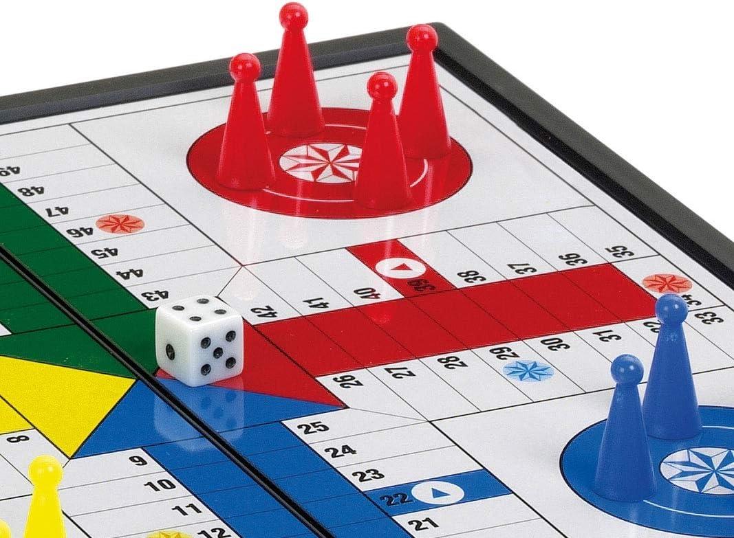 Cayro - Parchís Magnético Plegable - Juego de Tradicional - Juego de Mesa - Desarrollo de Habilidades cognitivas - Juego de Mesa (411): Amazon.es: Juguetes y juegos
