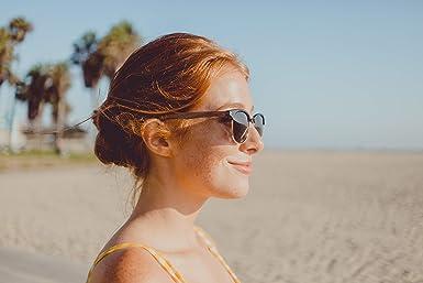6932bee97ee Amazon.com  WOODIES Walnut Wood Half-Rim Sunglasses with Polarized Lens   Clothing