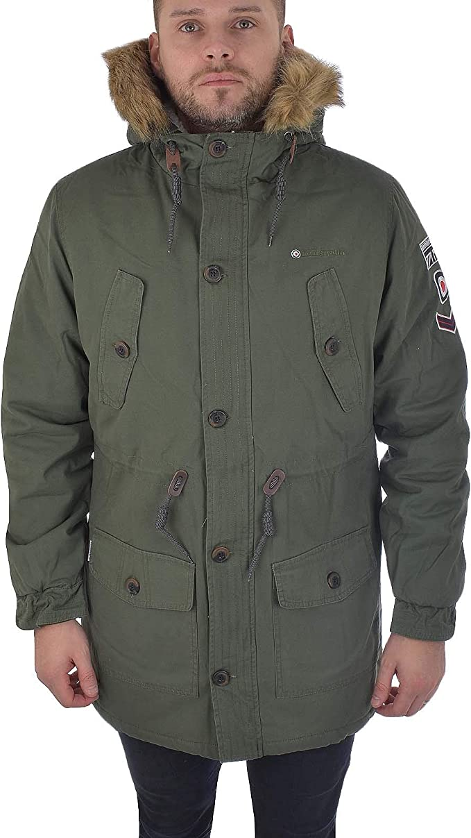 60s Men's Mod Fashion – American Style Lambretta Mens Carnaby Scooter Hooded Classic Mod Ska Badge Parka £109.95 AT vintagedancer.com