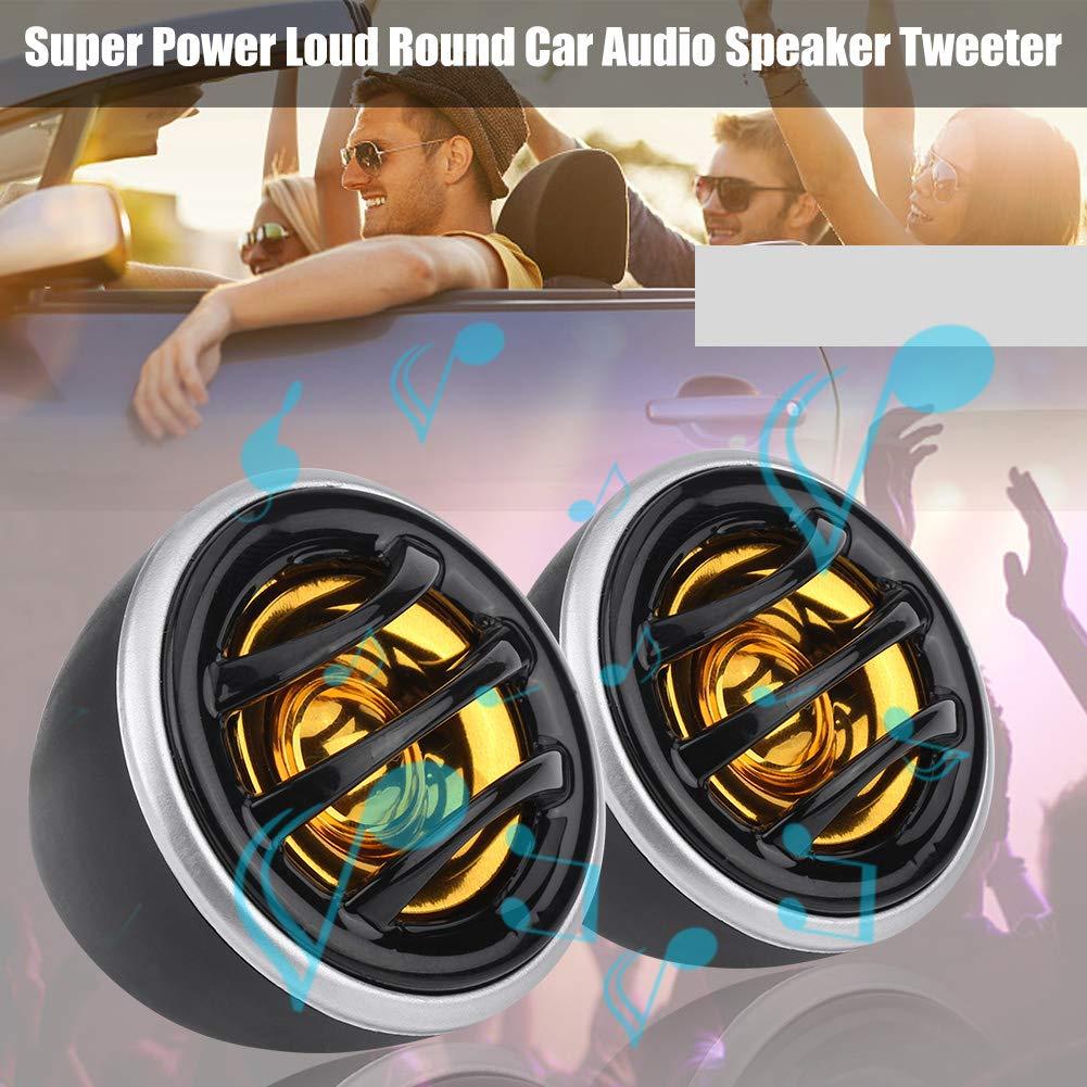 2 Tweeters de super poder fuerte KIMISS 2Pcs 12V 150W Mini Altavoz est/éreo de audio del coche