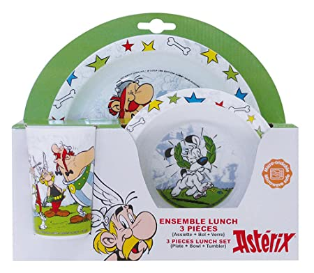 Fun House 005306 Asterix Childrens Lunch Set Polypropylene White