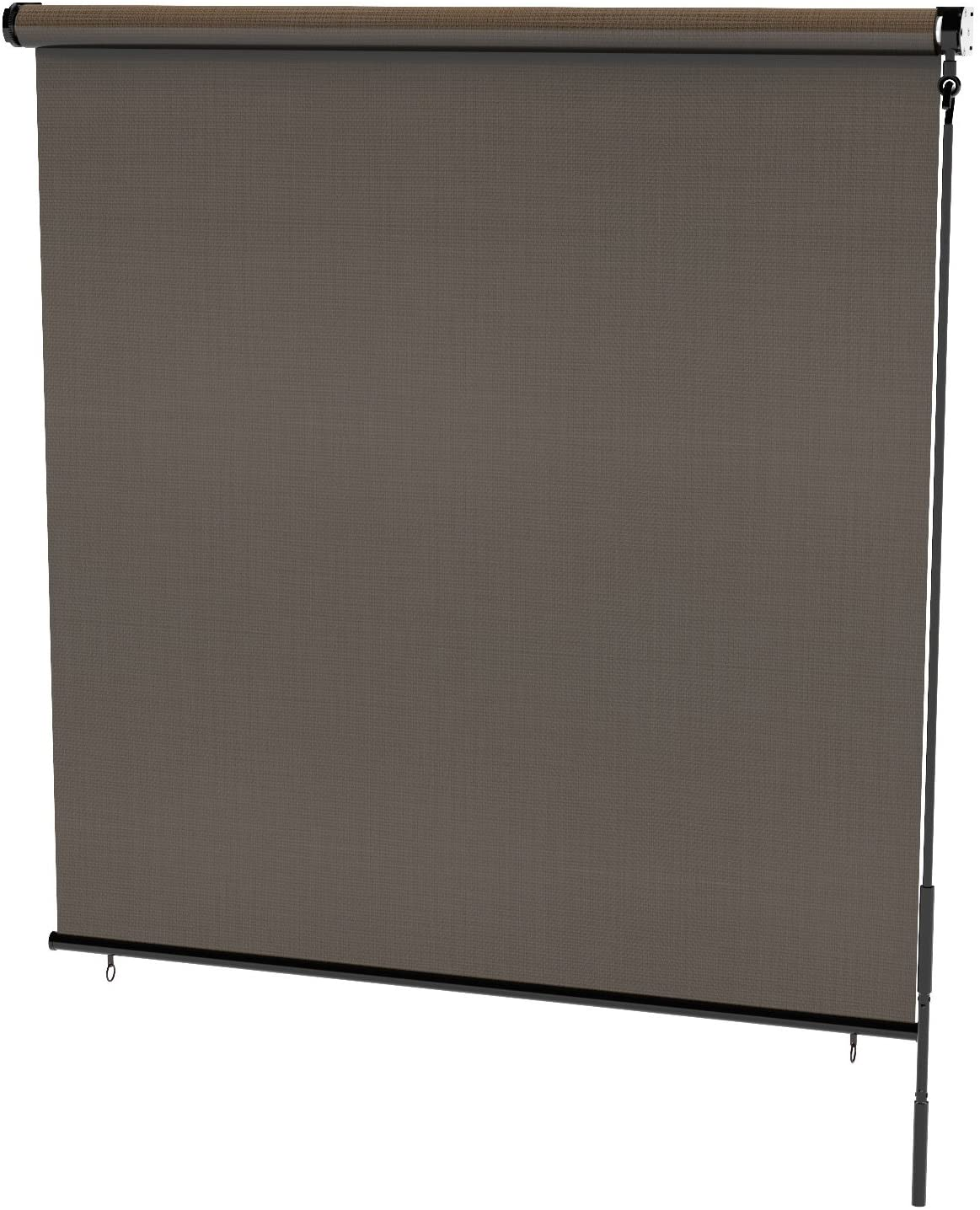 Radiance 0371648 Cordless Exterior Solar Shade Coconut Brown, 48x72