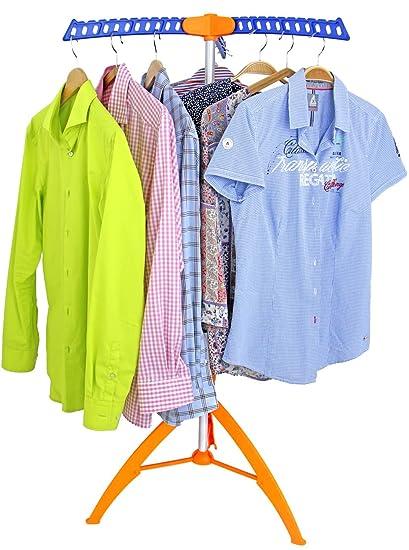 Tendedero de ropa, perchero con 3 ganchos desplegables para 36perchas, blusas o