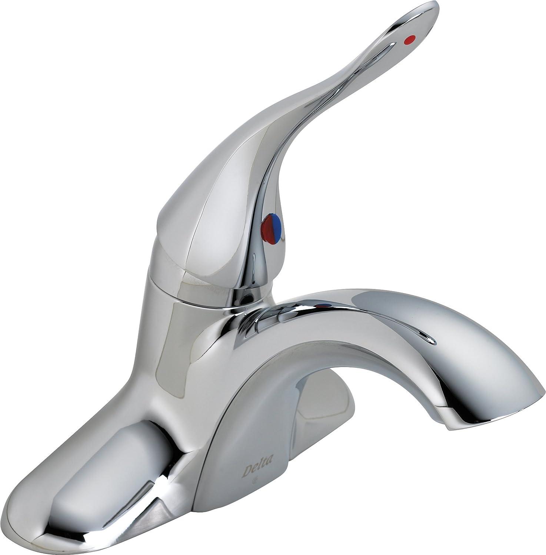 Delta Commercial 511LF-HDF Classic Single Handle Centerset Bathroom ...