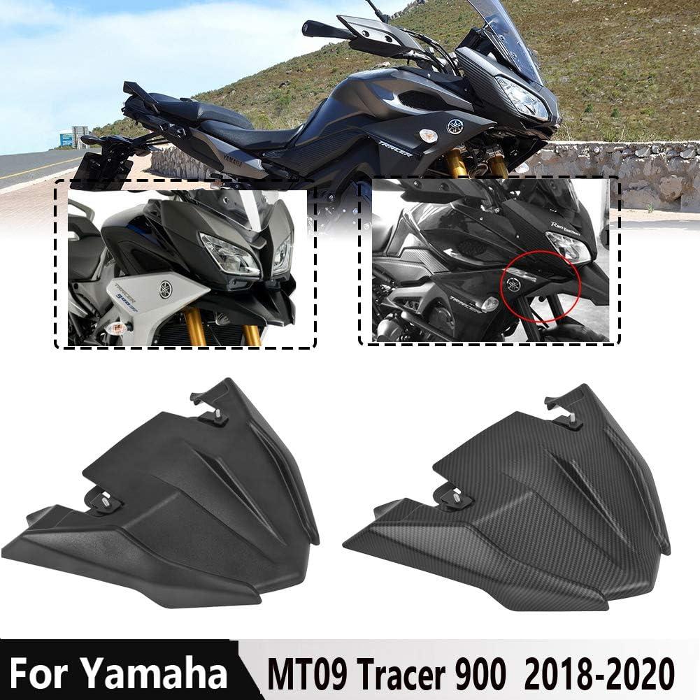 Lorababer Für Yamaha Mt09 Tracer Vorderrad Kotflügel Schnabel Nase Kegel Verlängerungsabdeckung Verlängerungshaube 2018 2020 Mt 09 Tracer 900 Tracer 900 Gt Fj 09 Zubehör 2019 Schwarz Auto