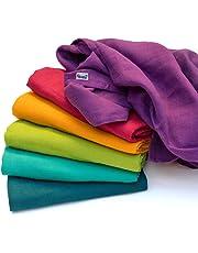 divata - Colorate Mussole per Neonato, 80x80cm (6 Pezzi, Set Arcobaleno) - Mussola di Garza Morbida 100% Cotone | Regalo per il Bambino, Bimba