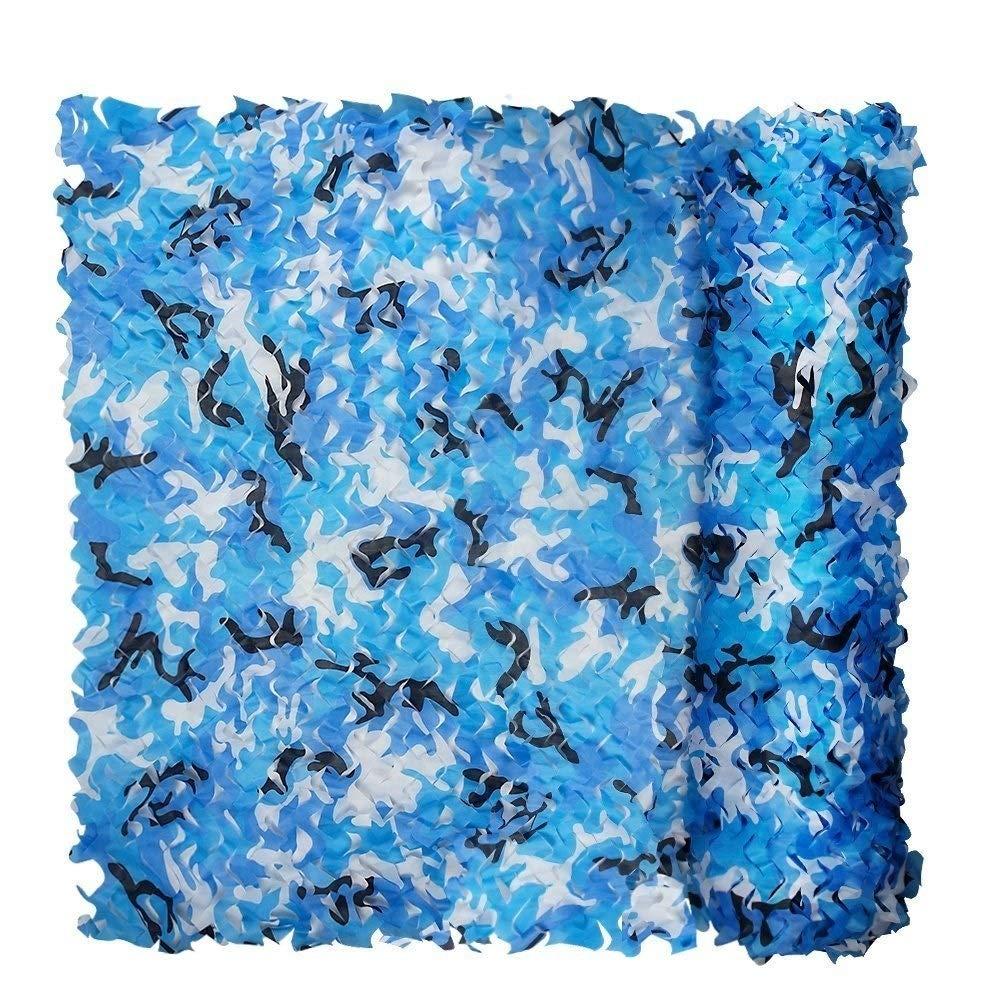 Red De Camuflaje, 3 X 2 M,Hecha con Tela Oxford Color : Blue Esconderse Malla Sombra De RedBloqueador Chihen Ideal como Parasol O Tienda De Campa/ña