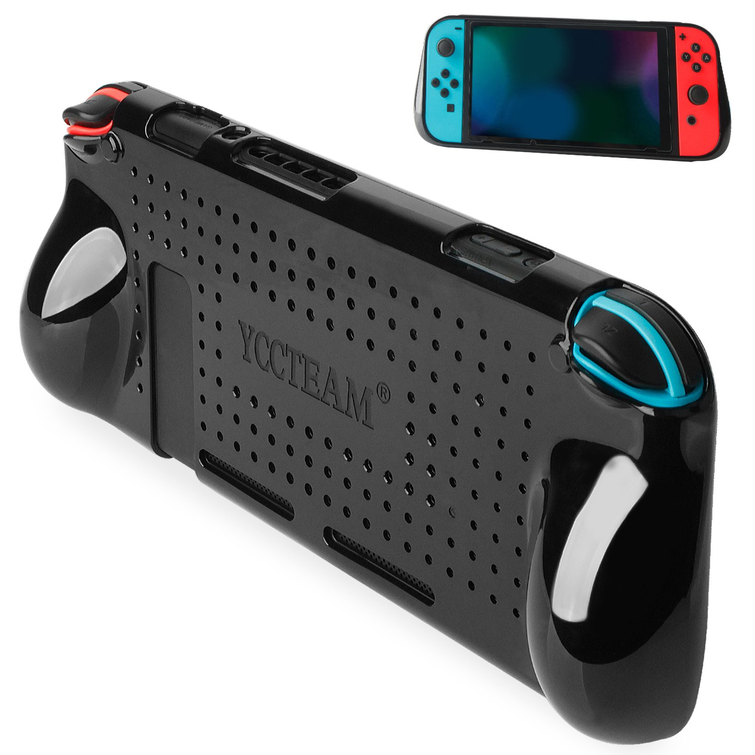 Switch Cover Protector, Heat Dissipation Comfortable Shock Protective Case for Nintendo Switch Grip, Slim and Light