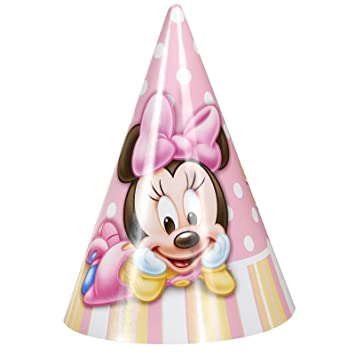 Minnie Mouse 1st Birthday Cone Hats