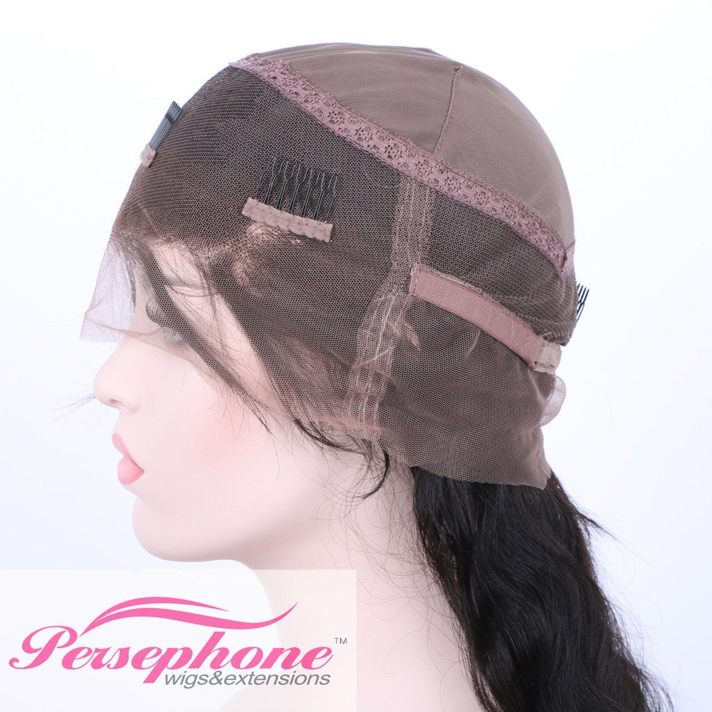 Persephone Glueless 200% Extra Heavy Density Body Wave 360 Lace Frontal Wigs Human Hair with Baby Hair Brazilian Remy Hair Lace Wig with Natural Hairline for Women Natural Color 20inches by Persephone (Image #4)