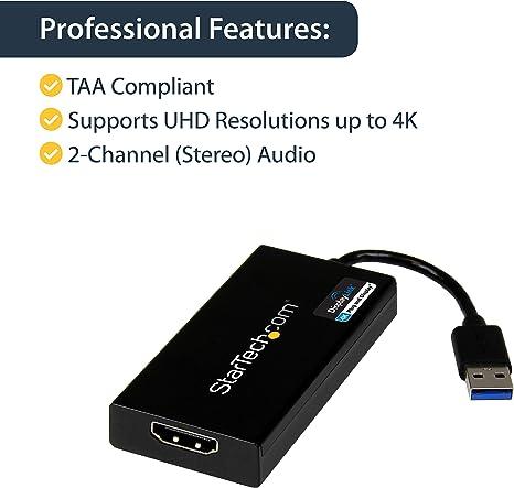 StarTech.com Adaptador Gráfico Externo Multi Monitor USB 3.0 ...