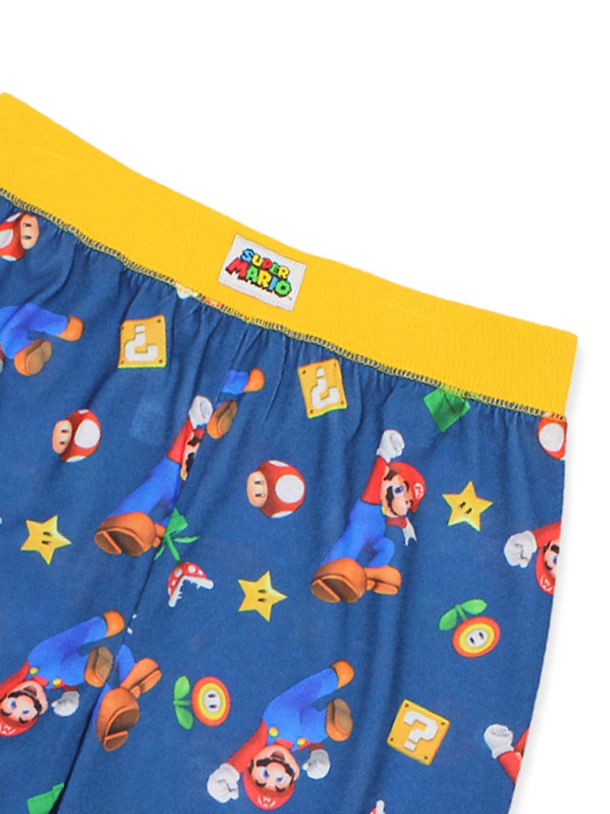 X-Small 4//5 Super Mario Brothers 2 Piece Pajama Set