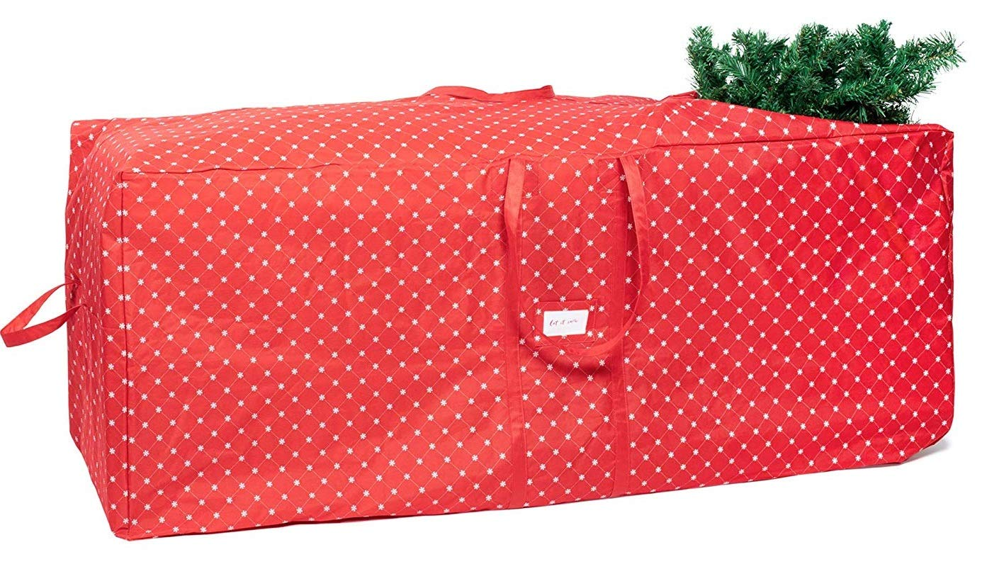 Christmas Tree Storage Bag - Fits Trees Up to 12 Feet Durable with Easy to Roll Wheels and Snowflake Design, Extra Large Xmas Holiday Tree Organizer and Artificial Holiday Tree Storage Bag