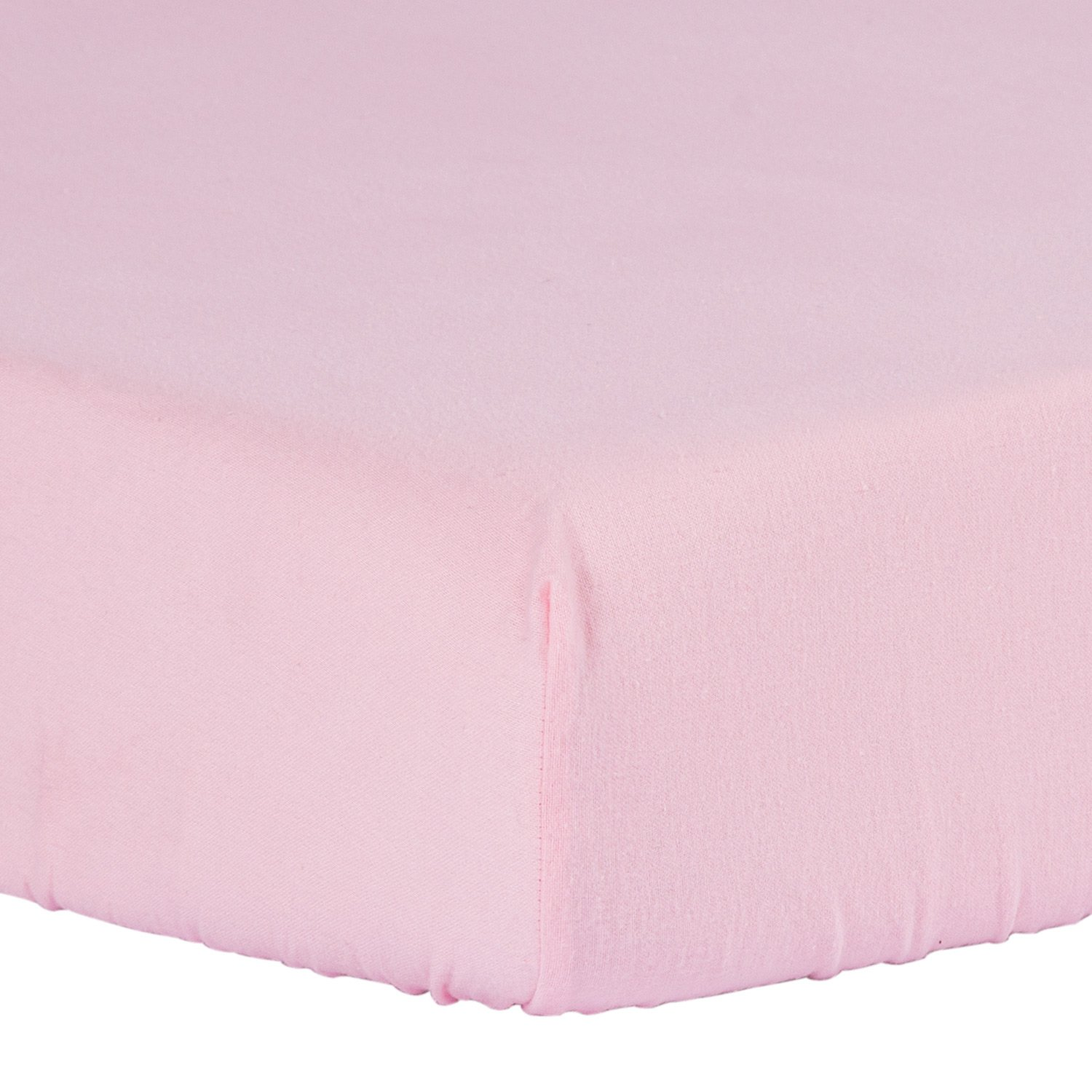 TILLYOU 100% Cotton Flannel Crib Sheet, Ultra Soft Fitted Toddler Sheets, Hypoallergenic Breathable Cozy, 28 x 52in Fit Standard Crib/Toddler Mattress, Pink Smile Textile