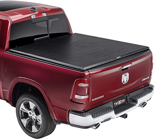 """TruXedo TruXport Soft Roll Up Truck Bed Tonneau Cover   284901   fits 2019 - 2020 New Body Style Ram 1500 w/RamBox with or without Multifunction tailgate 5'7"""" bed"""