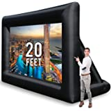 KHOMO GEAR Jumbo 20 Feet Inflatable Outdoor and Indoor Theater Projector Screen - Includes Inflation Fan, Tie-Downs and…