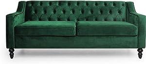 Christopher Knight Home Knouff Sofas, Emerald + Dark Brown