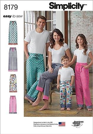 Simplicity 1285 Child/'s Teens/' /& Adults/' Knit Sleepwear Pajamas Sz XS-L XS-XL